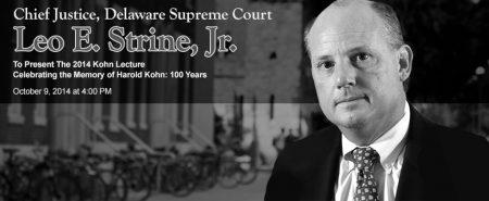 Chief Judge Leo Strine, Jr