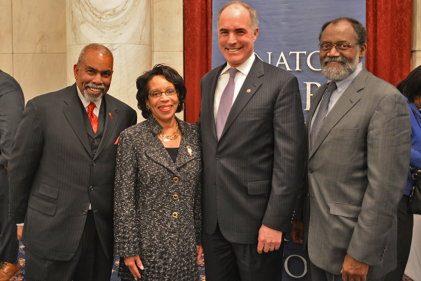 JoAnne with Bob Casey