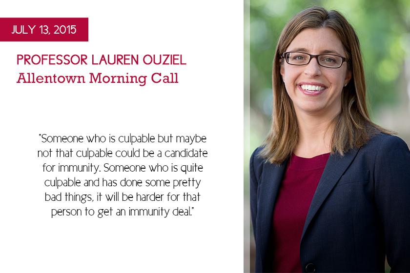 Professor Lauren Ouziel Wiretap