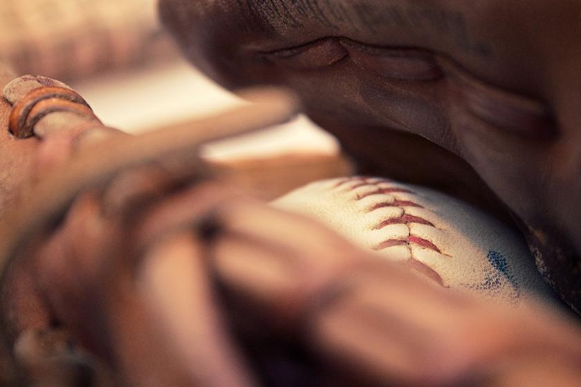 Baseball in Mitt