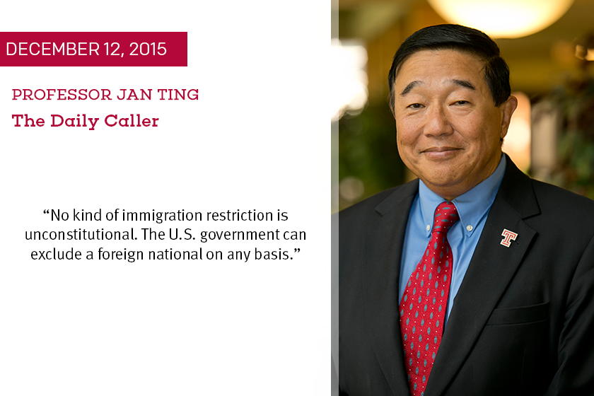 Jan Ting Immigration Proposal