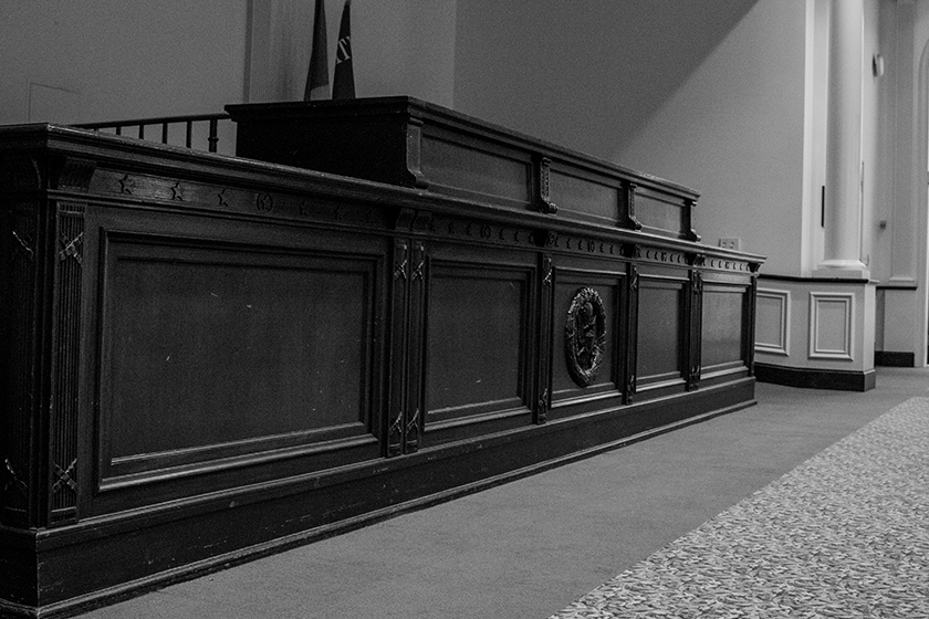 Moot Court Room Judges Bench