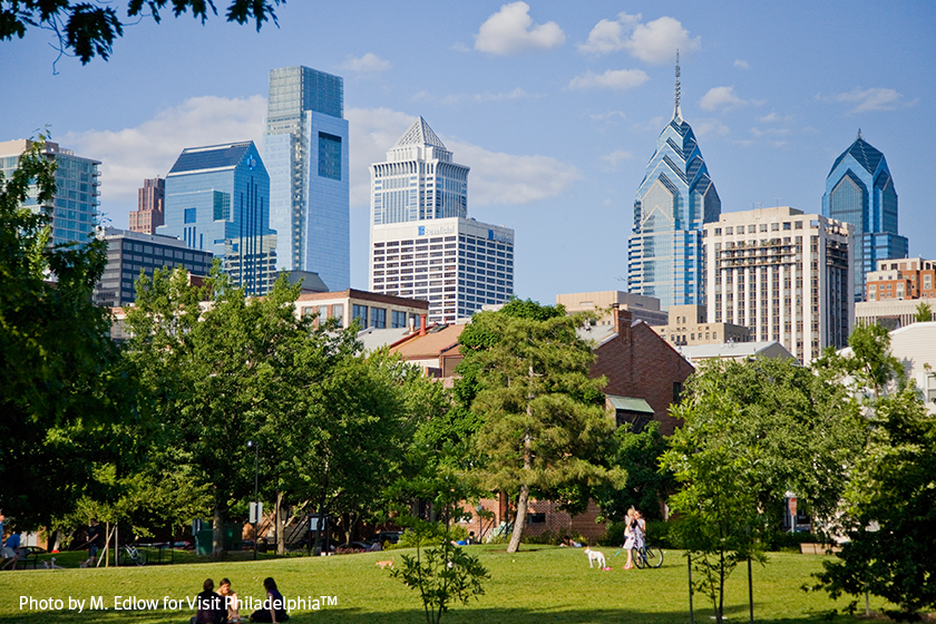 Philadelphia Skyline from Fitler Square